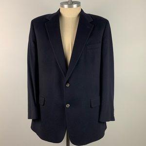 Brooks Brothers Cashmere Blazer - Solid Blue Mens